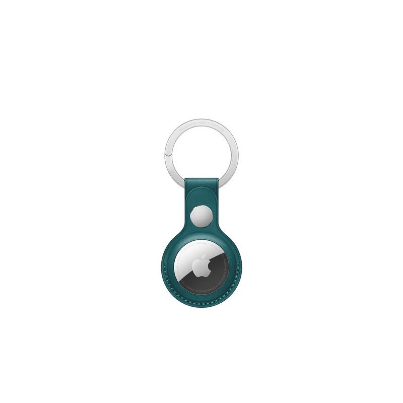 App AirTag Schlüsselanhänger Leder waldgrün
