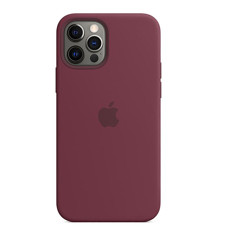 Apple iPhone 12/12 Pro Silikon Case mit MagSafe pflaume