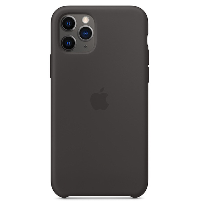 Apple Backcover Silikon iPhone 11 Pro schwarz