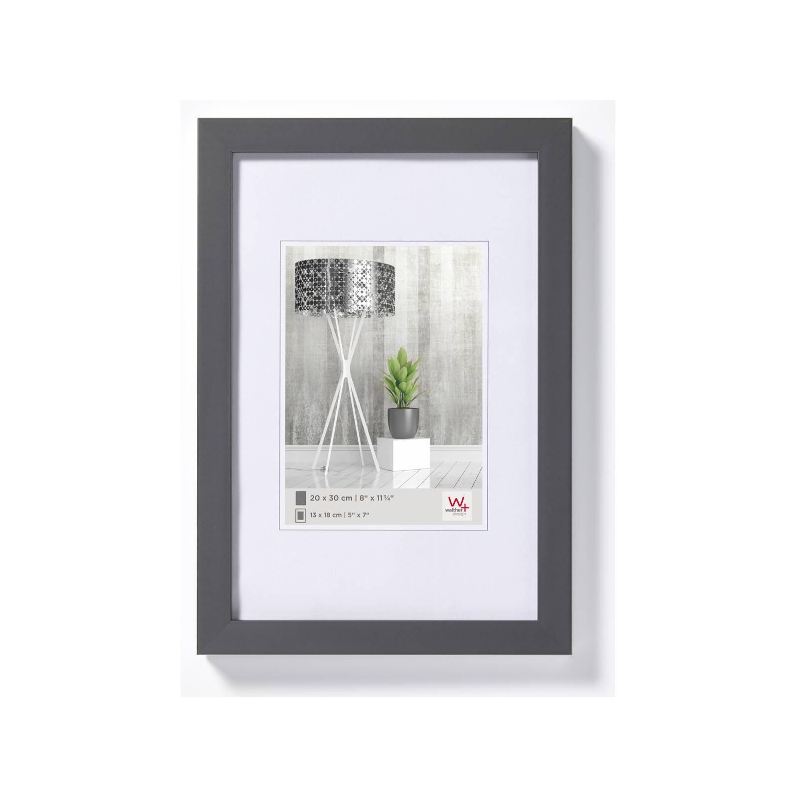 Bilderrahmen Ambience 13x18cm Holz anthrazit/weiß