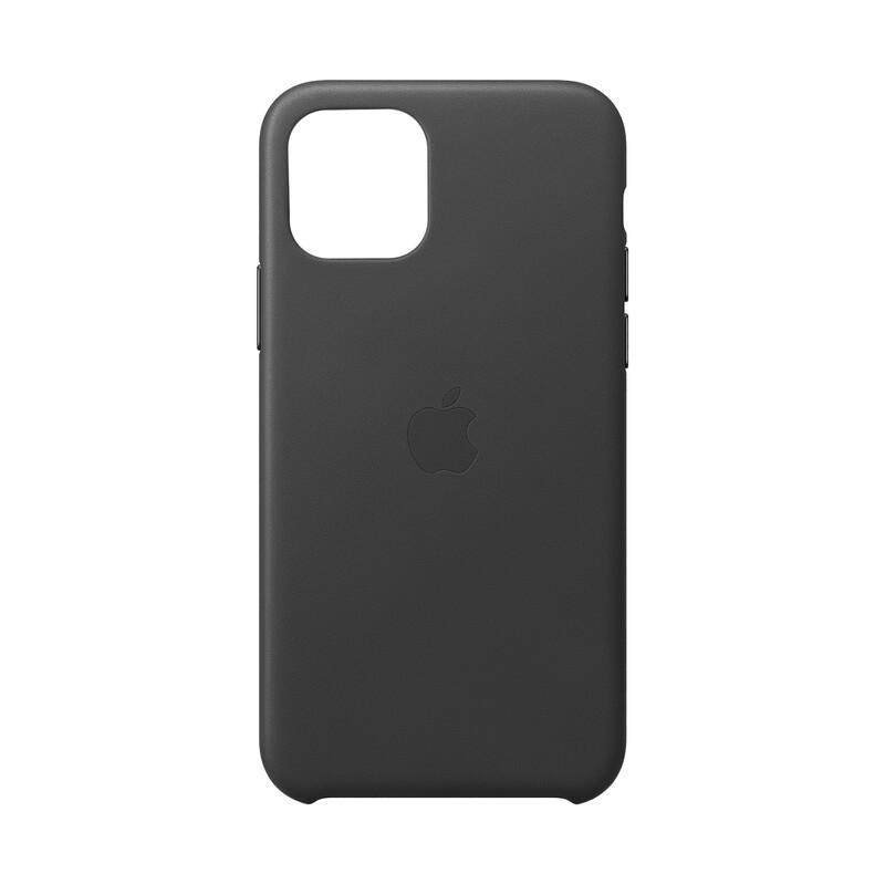 Apple Original Leder Back Cover iPhone 11 Pro schwarz