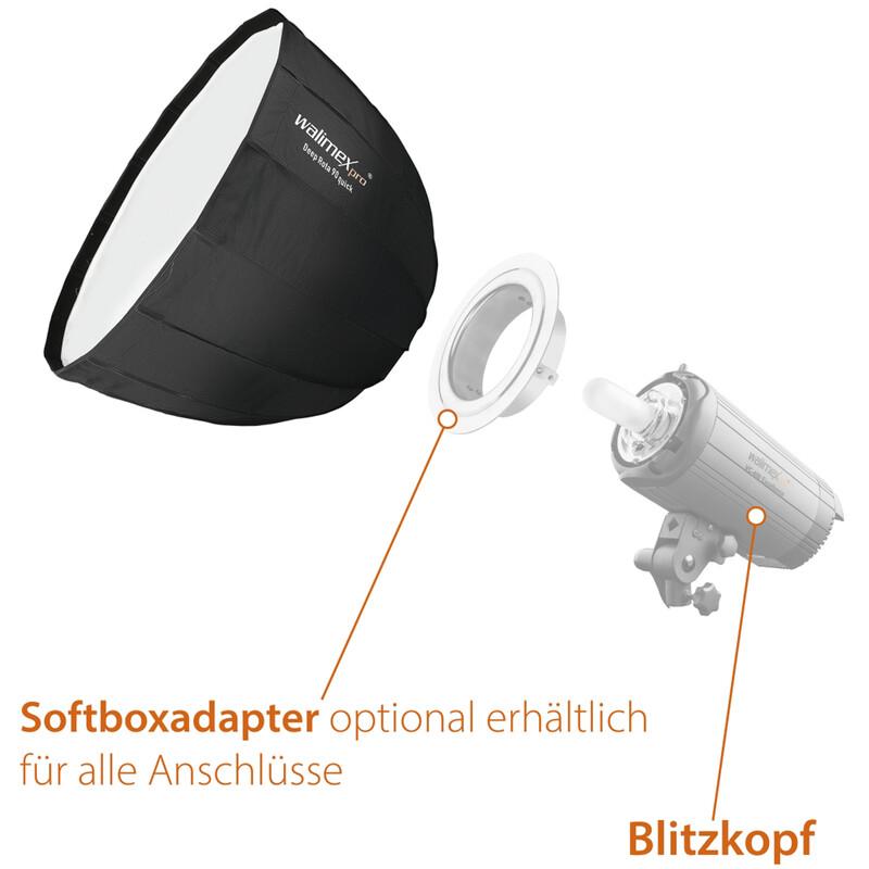 Walimex pro Studio Line Deep Rota Softbox QA90 Balcar