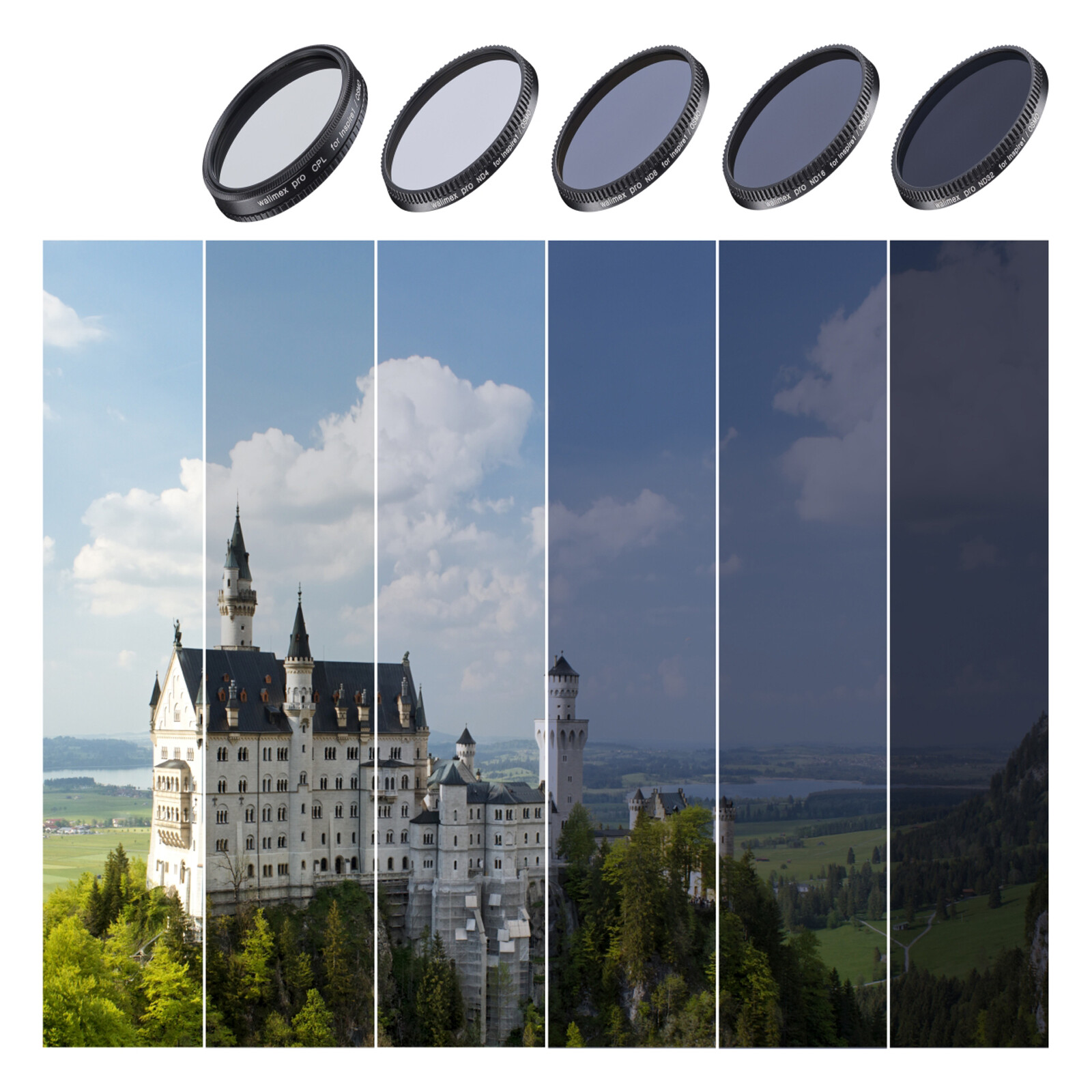 walimex pro Drohnenfilter Set Inspire1 (X3)/Osmo