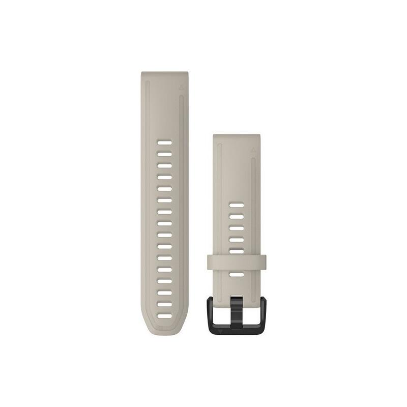Garmin Quickfit Band 20mm Silikon beige schwarz