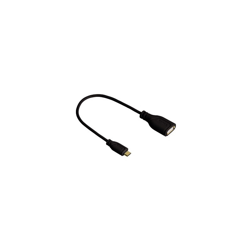 Hama 135704 Micro-USB-OTG-Adapterkabel Flexi-Slim 0,15m