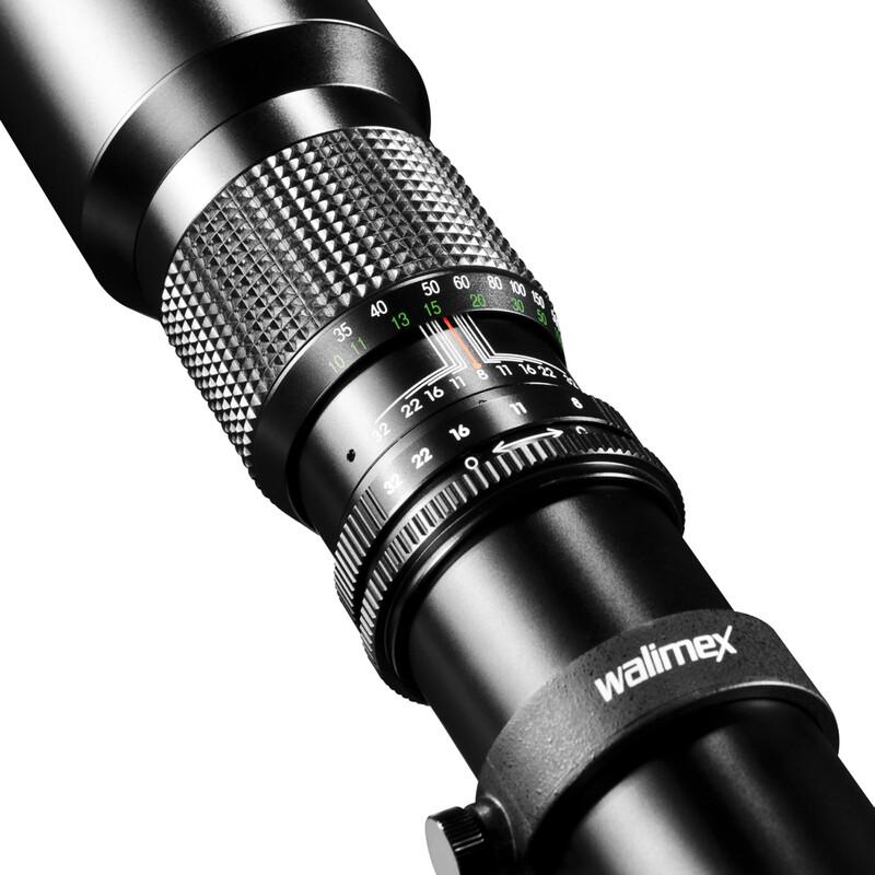 walimex 500/8,0 DSLR mit T2 Adapter MFT Schwarz