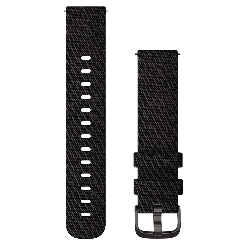 Garmin Uhrenarmband Vivomove 20mm Nylon Schwarz/Jaquard