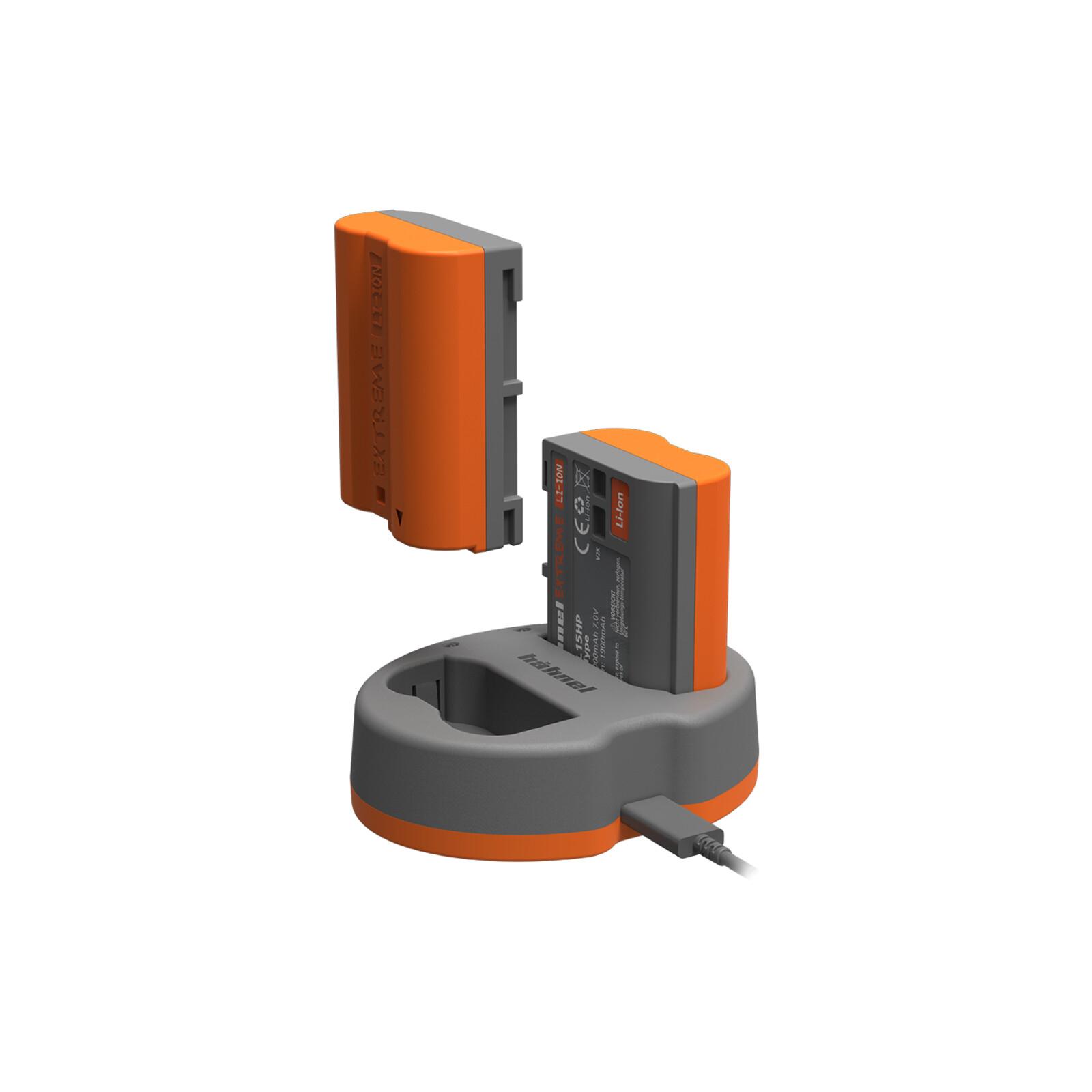 Hähnel XEL15HPKIT Doppelladegerät Canon XEL15HP