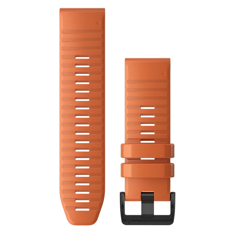Garmin Quickfit Band 26mm Silikon dunkelorange schwarz