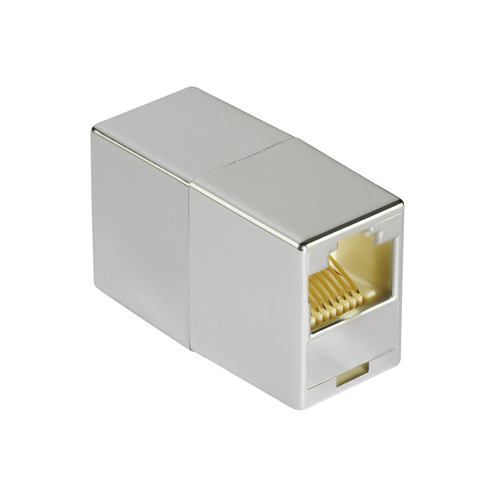 Hama 53776 CAT 6 Netzwerkadapter 2x Modular 8p8c