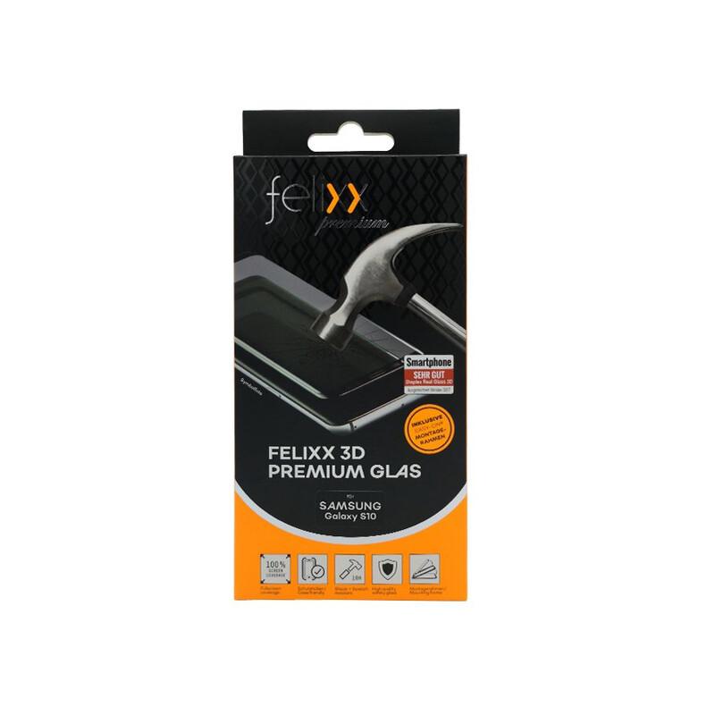 Felixx Glas Full 3D CF Samsung Galaxy S10 schwarz