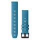 Garmin Quickfit Band 22mm Silikon lichtblau schwarz