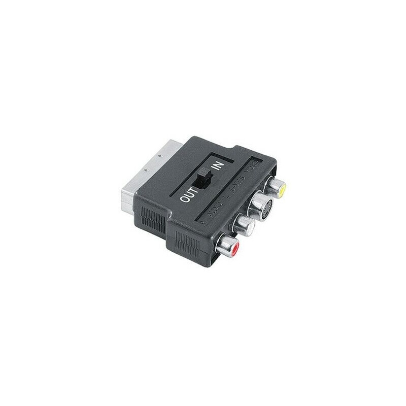 Hama 42357 Video-Adapter S-VHS-Kupplung/3 Cinch-Kupplungen -