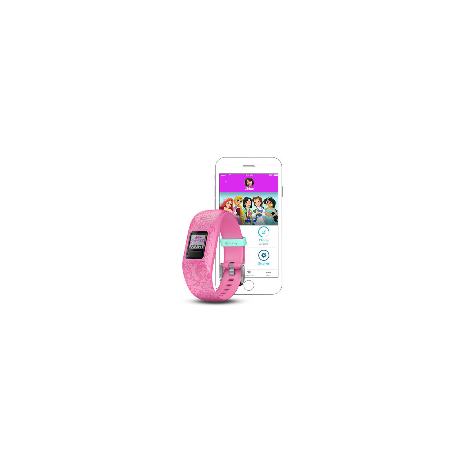 Garmin Band vivofit Jr.2 Silikon rosa Disney Prinzessin