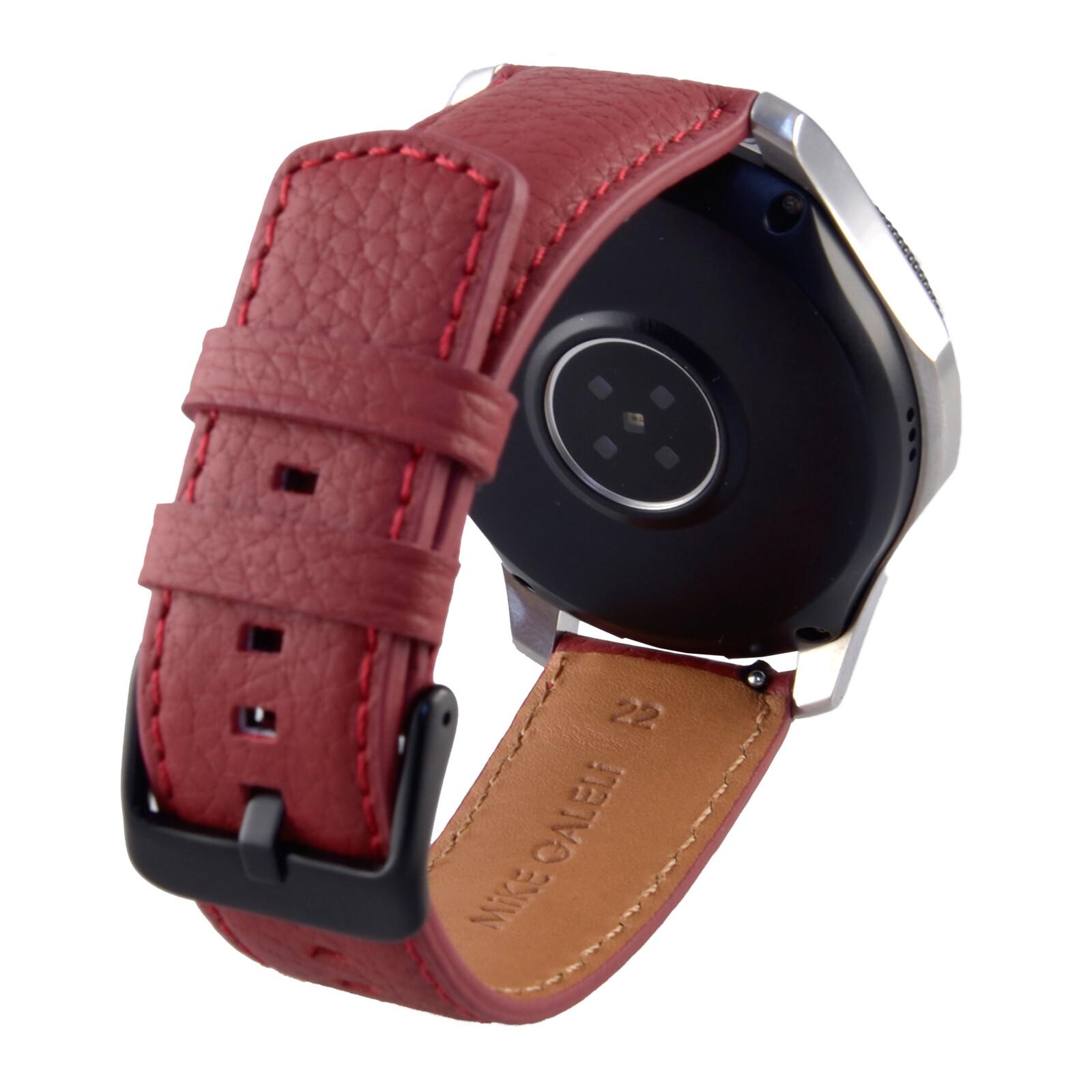 Garmin Vivoactive 4 45mm inkl. Ersatzarmband Leder Rot