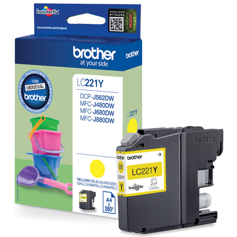 Brother LC221Y Tinte yellow