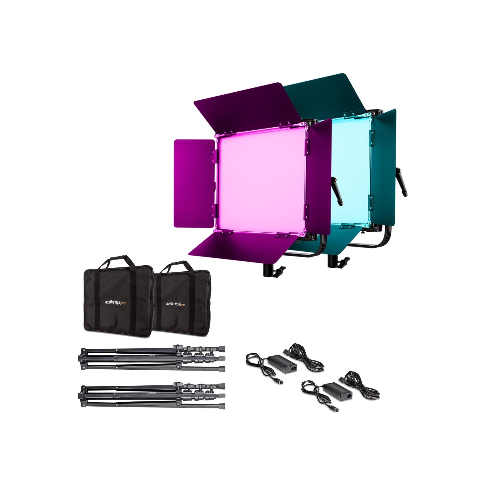 Walimex pro LED Rainbow 100W RGBWW Set 2 (2x Rainbow 100W, 2