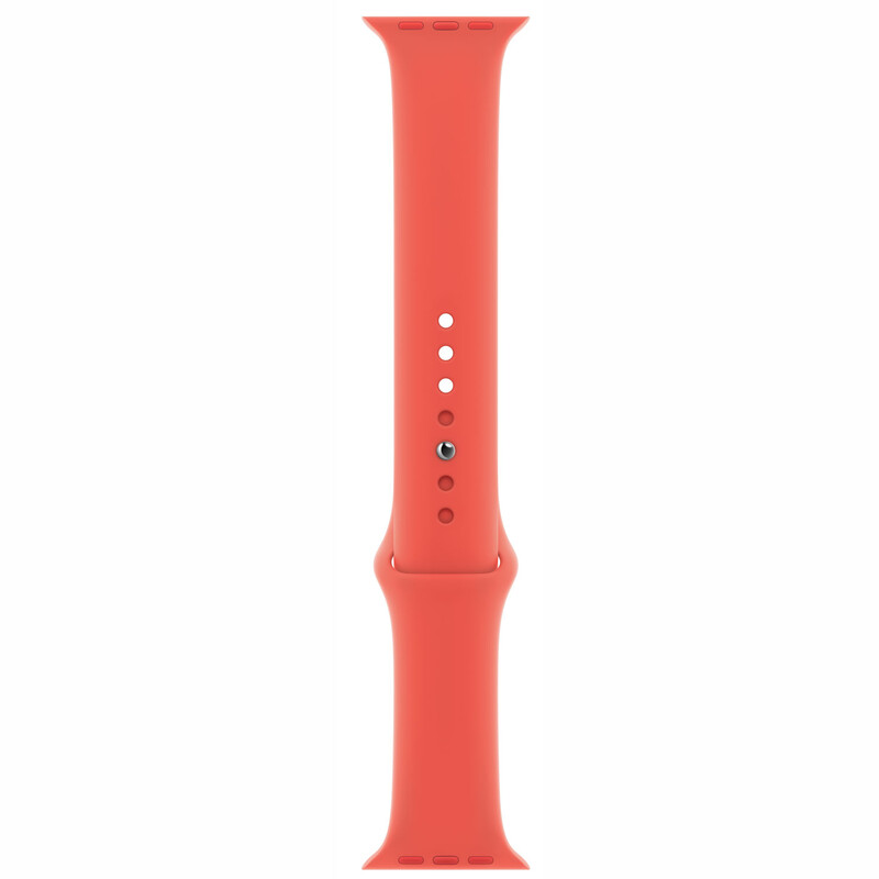 Apple Watch 40mm Sportarmband zitruspink S/M M/L