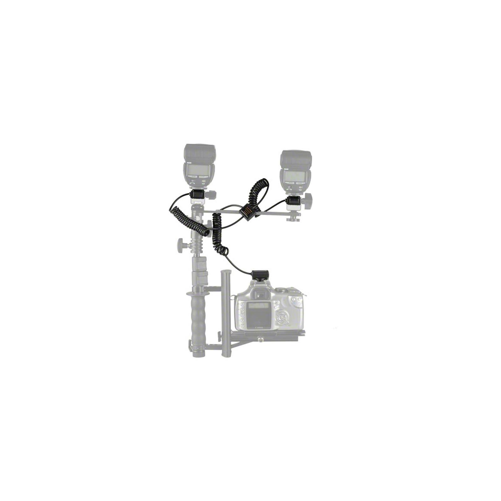 walimex 2-fach Spiral-Blitzkabel für Canon E-TTL