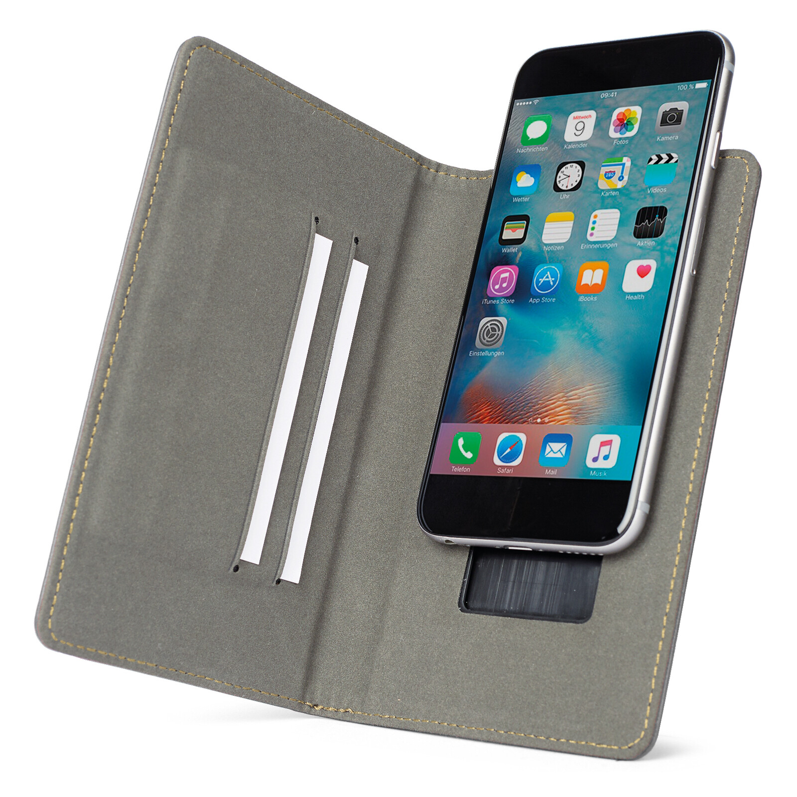Axxtra Book Tasche Size XL bis 152x81x11mm schwarz