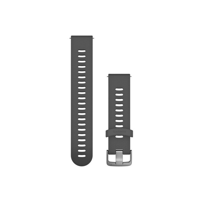 Garmin Uhrenarmband Forerunner 20mm Silikon Schiefergrau