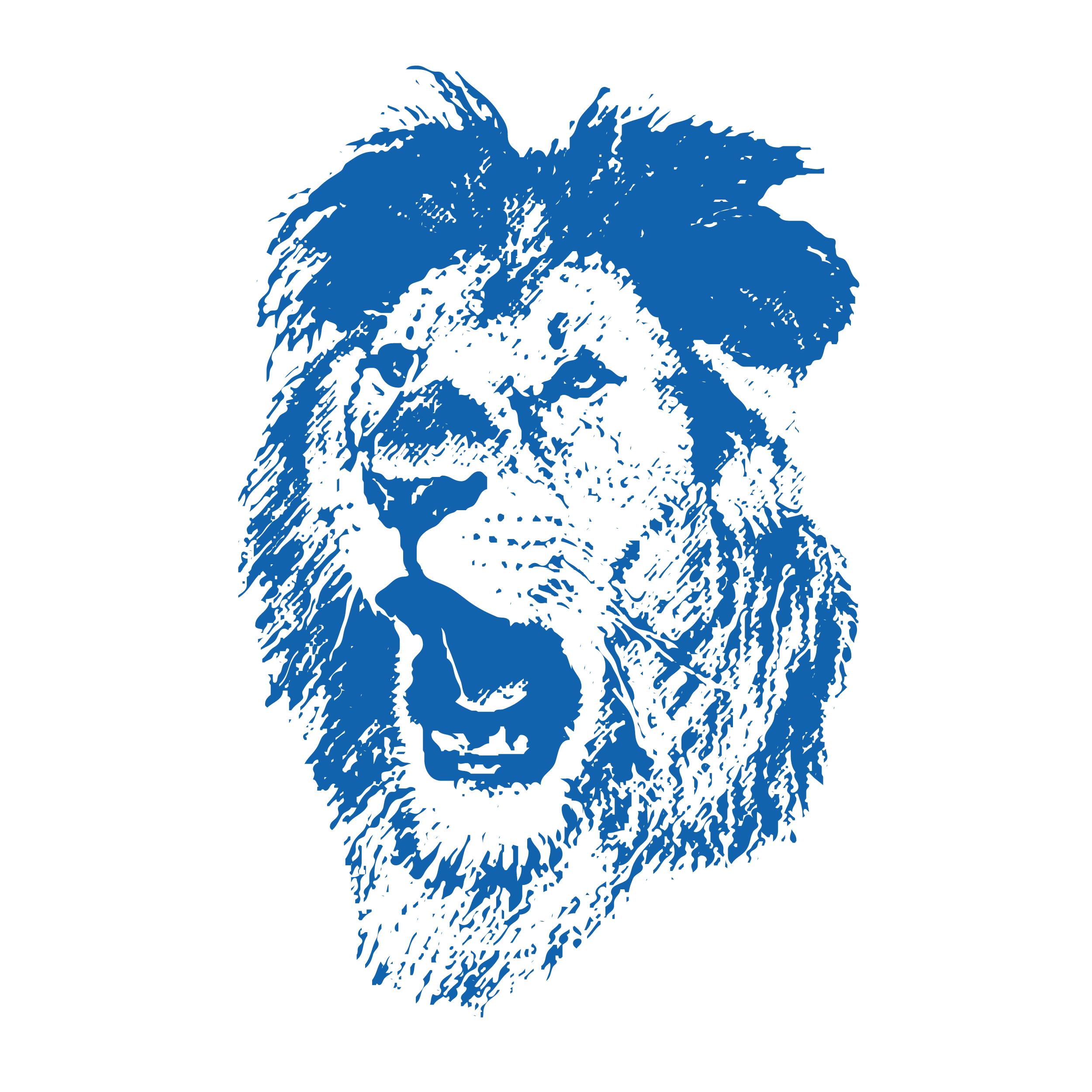 Hartlauer Logo Löwenkopf blau