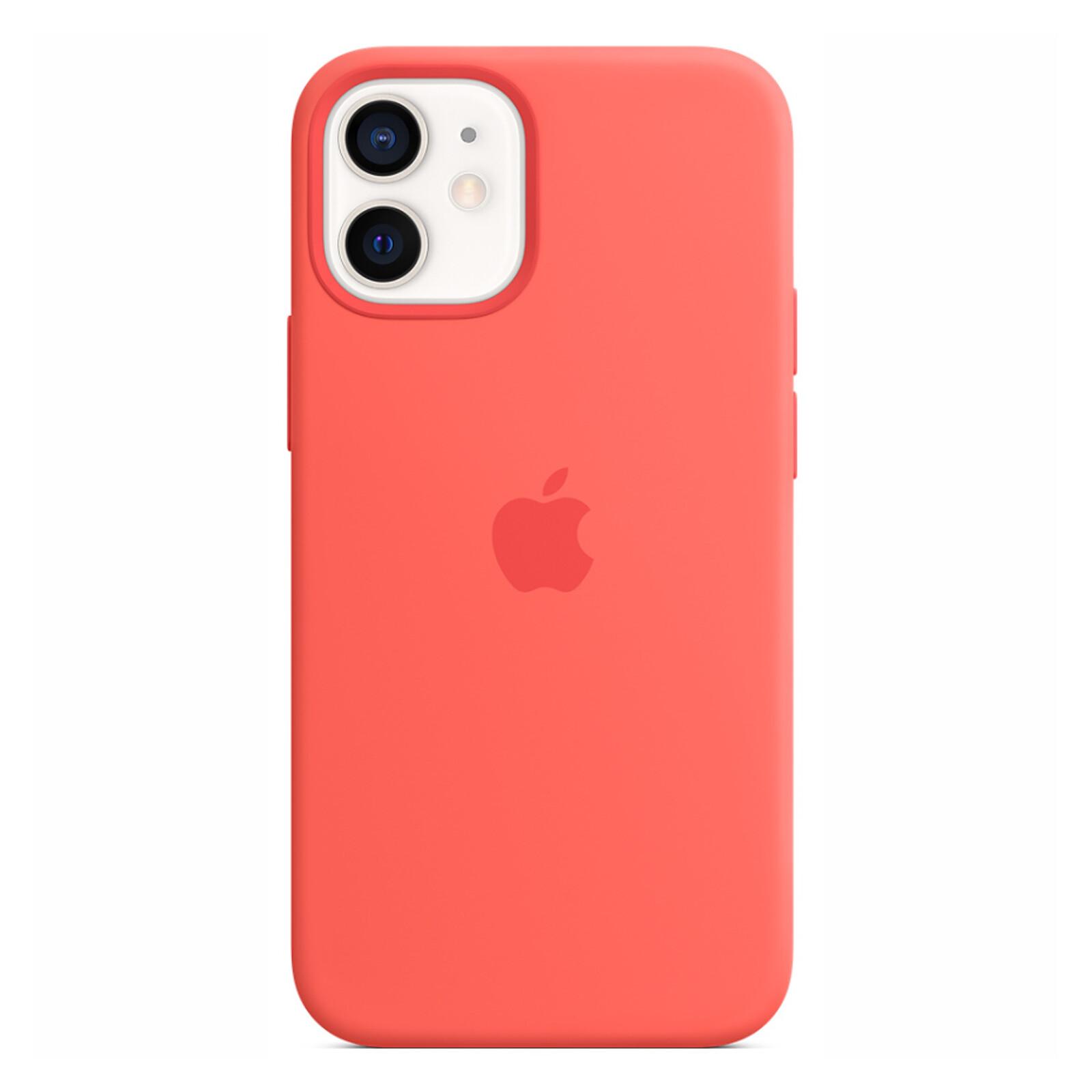 Apple iPhone 12 mini Silikon Case mit MagSafe zitruspink