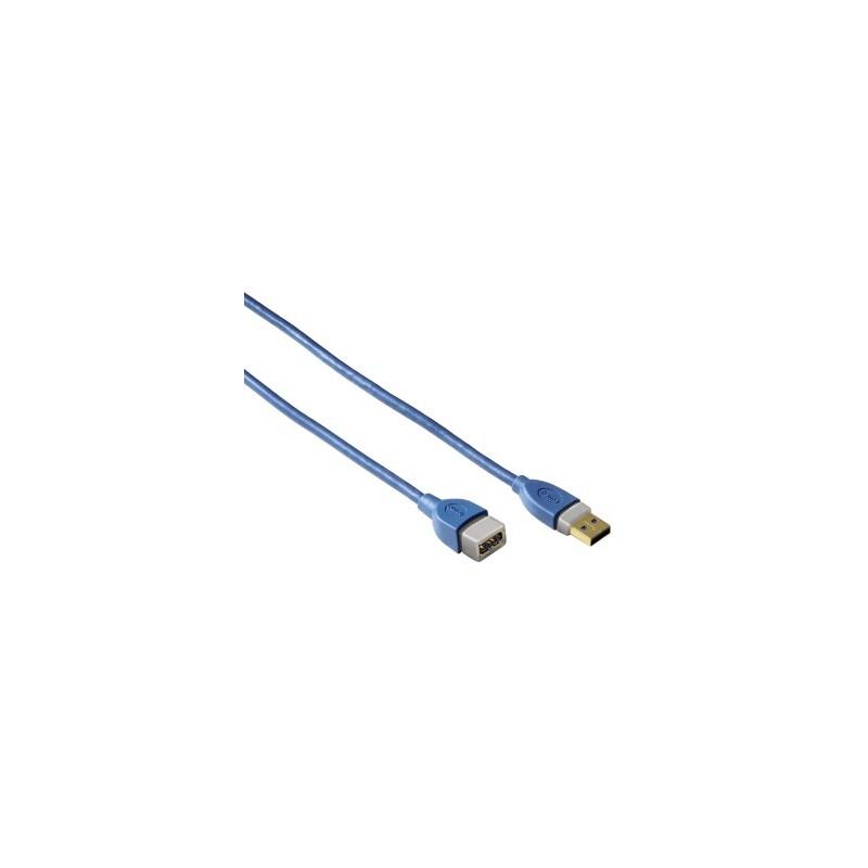 Hama 39674 USB 3.0 Verlaengerungskabel 1,8m blau