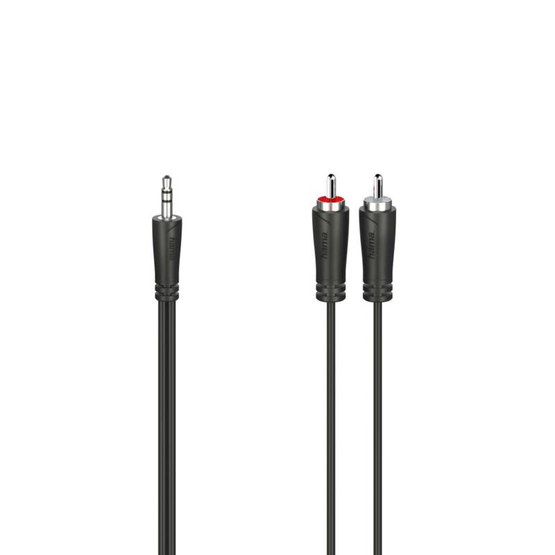 Hama 200721 Audio-Kabel 3,5mm Klinken-2 Cinch 5m