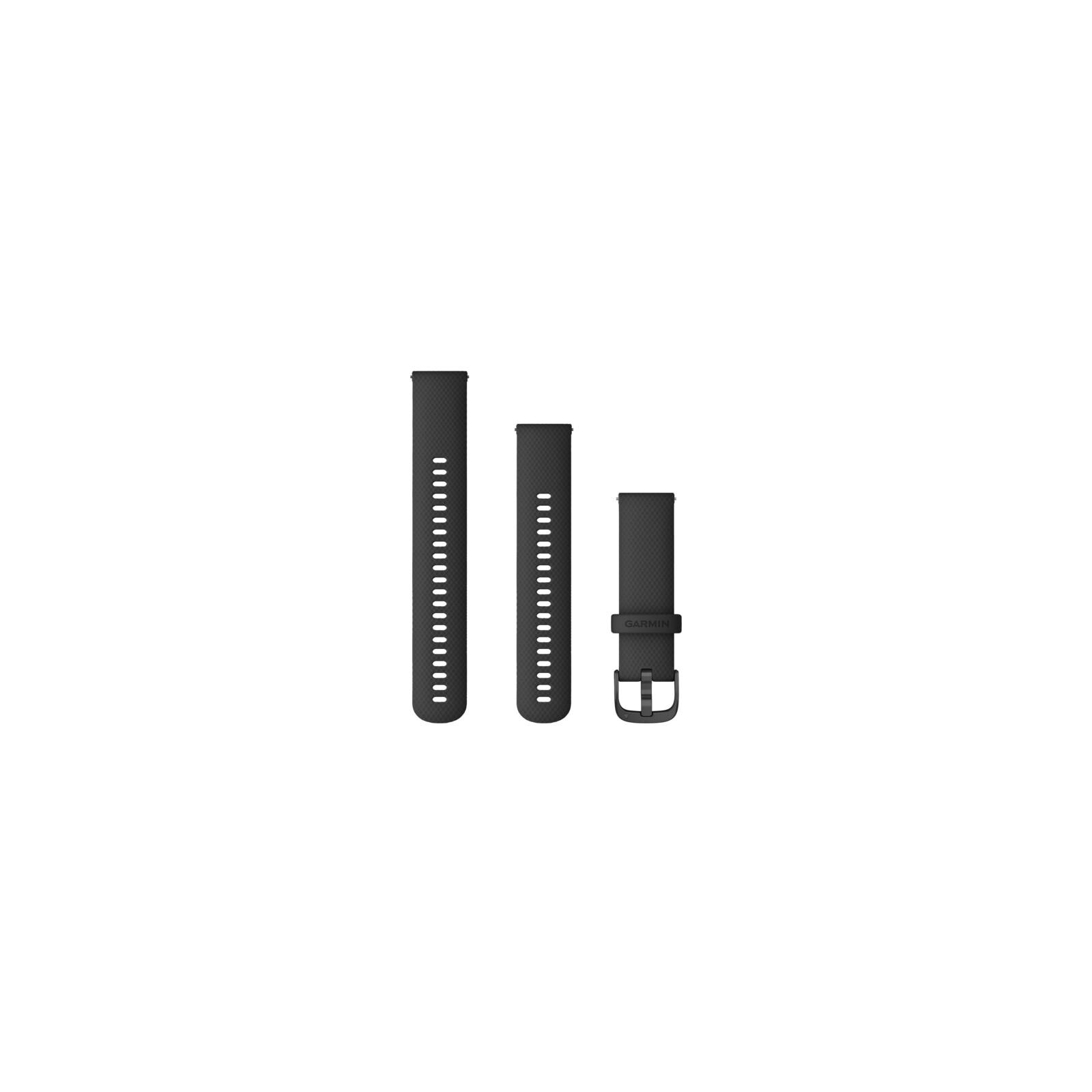 Garmin Schnellwechsel Armband Silikon 22mm Schwarz