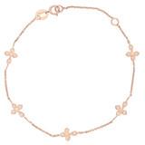 Armband Five Crosses rosevergoldet echt Silber