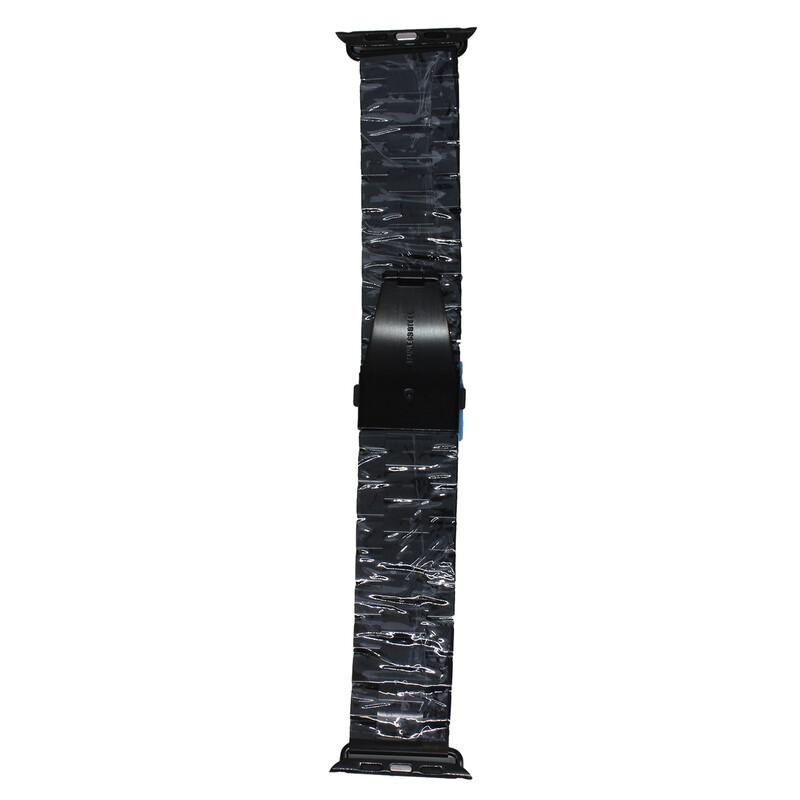 Mika Uhrenarmband Apple 42/44mm Edelstahl Glieder schwarz