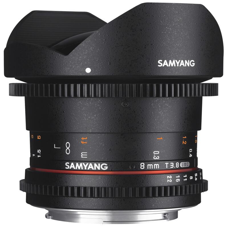 Samyang MF 8/3,8 Fisheye II Video DSLR Canon EF