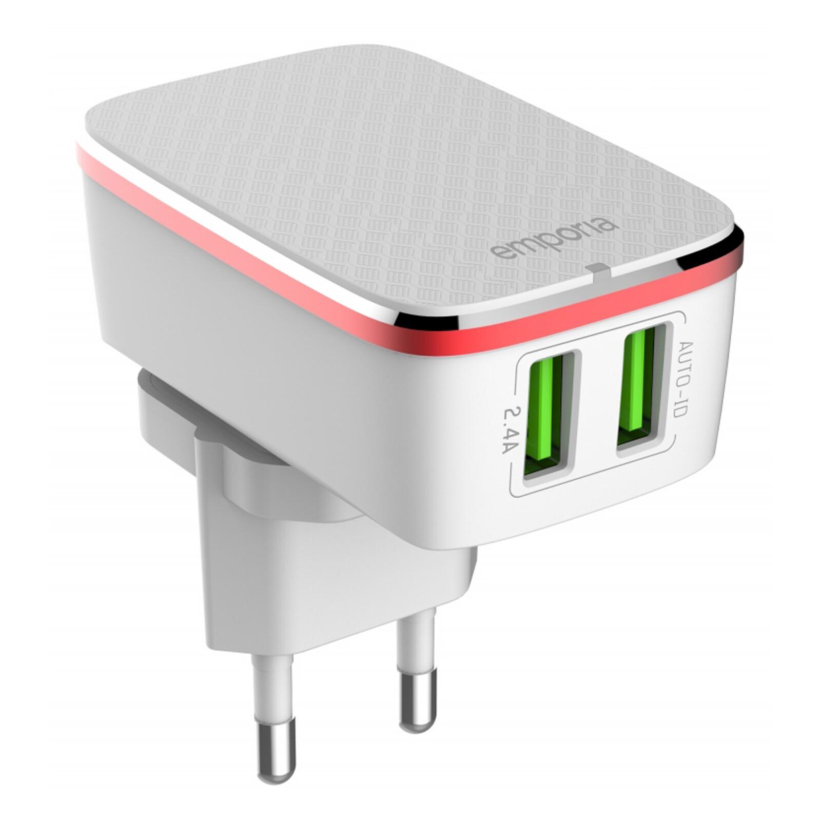 Emporia Reiselader dual-USB 2,4A Auto-ID