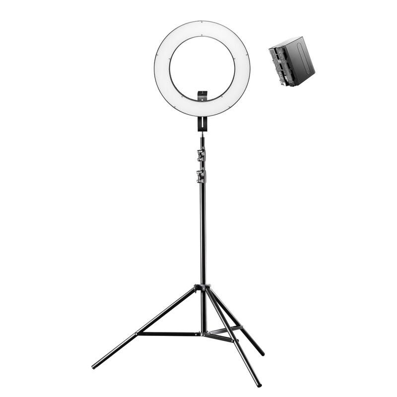 Walimex pro LED Ringleuchte 380 Bi Color Set inkl. Lampensta