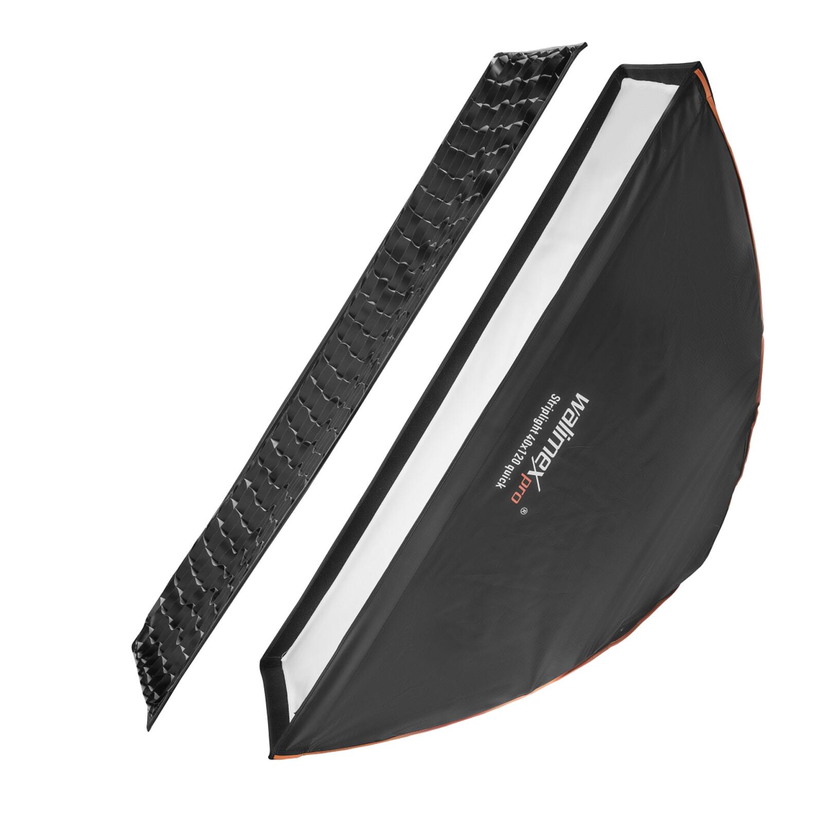 Walimex pro Studio Line Striplight Softbox QA 40x120cm Visat