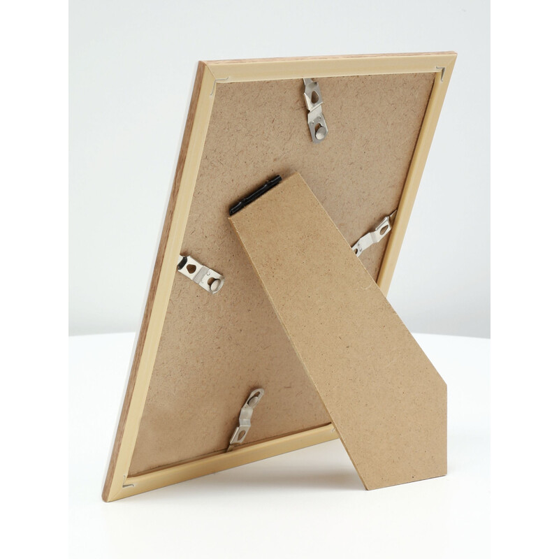 Bilderrahmen Deknudt 13x18cm Kunststoff Holzoptik natur S46W