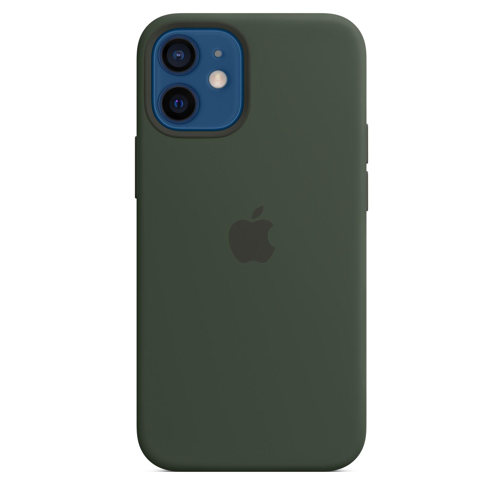 Apple iPhone 12 mini Silikon Case mit MagSafe zyperngrün