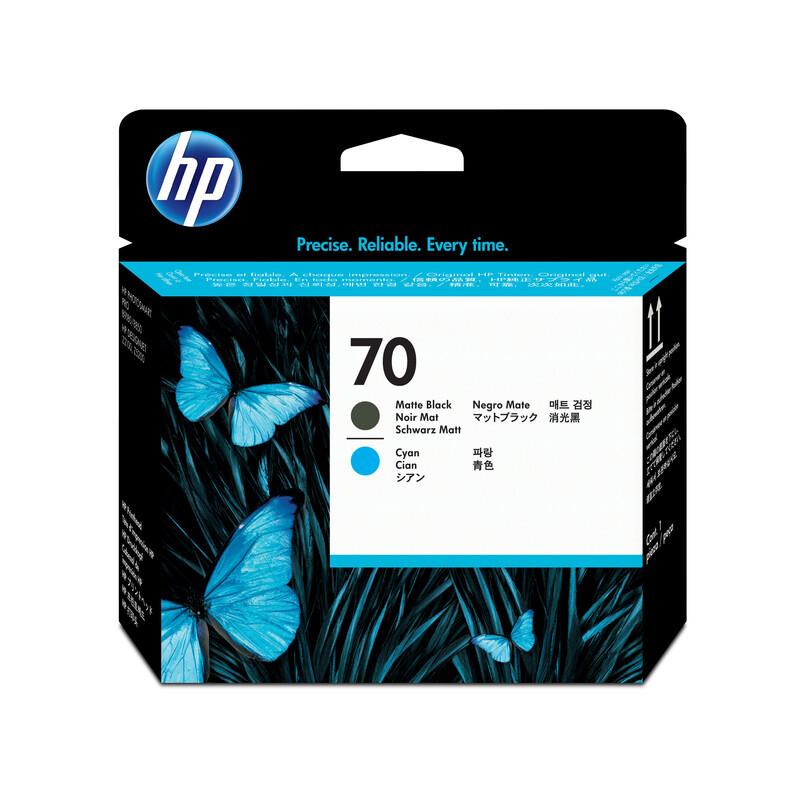 HP 70 C9404A Druckk matte black/cyan