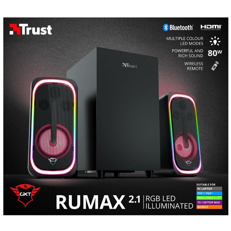Trust GXT635 Rumax RGB BT 2.1 Speaker Set