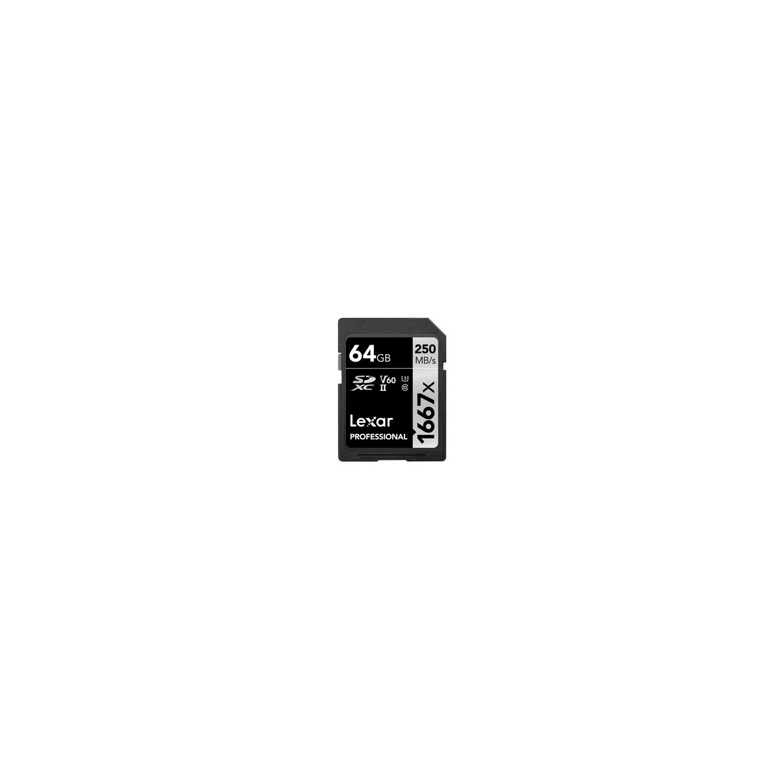 Lexar SDXC 64GB Professional UHS II U3 250Mb/s