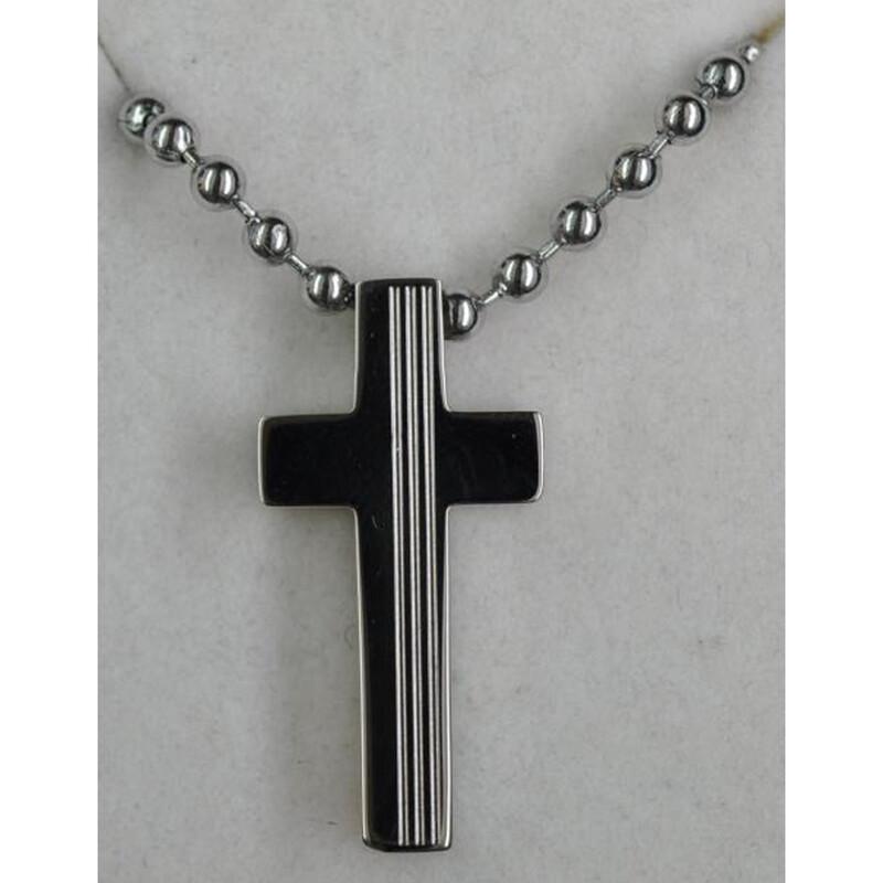 Edelstahlkette mit Kreuz