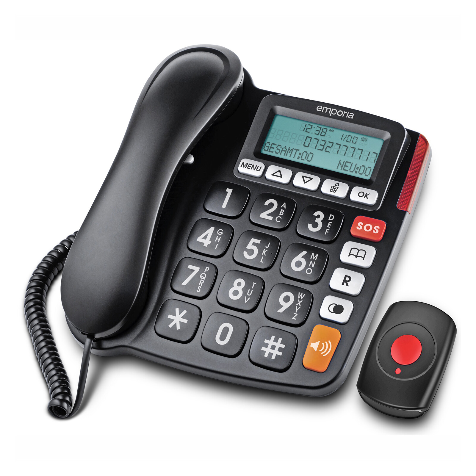 Emporia KFT19 Großtastentelefon + SOS Notrufarmband