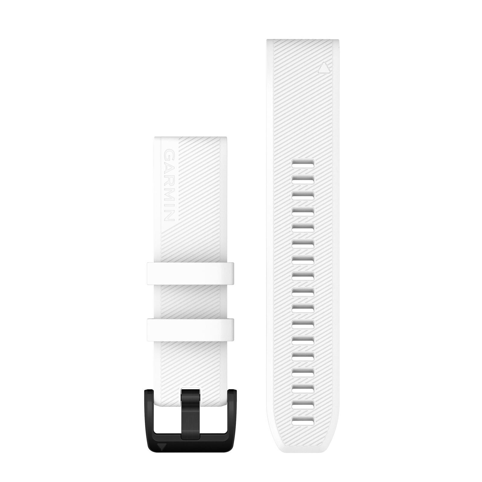Garmin Quickfit Band 22mm Silikon weiß schwarz