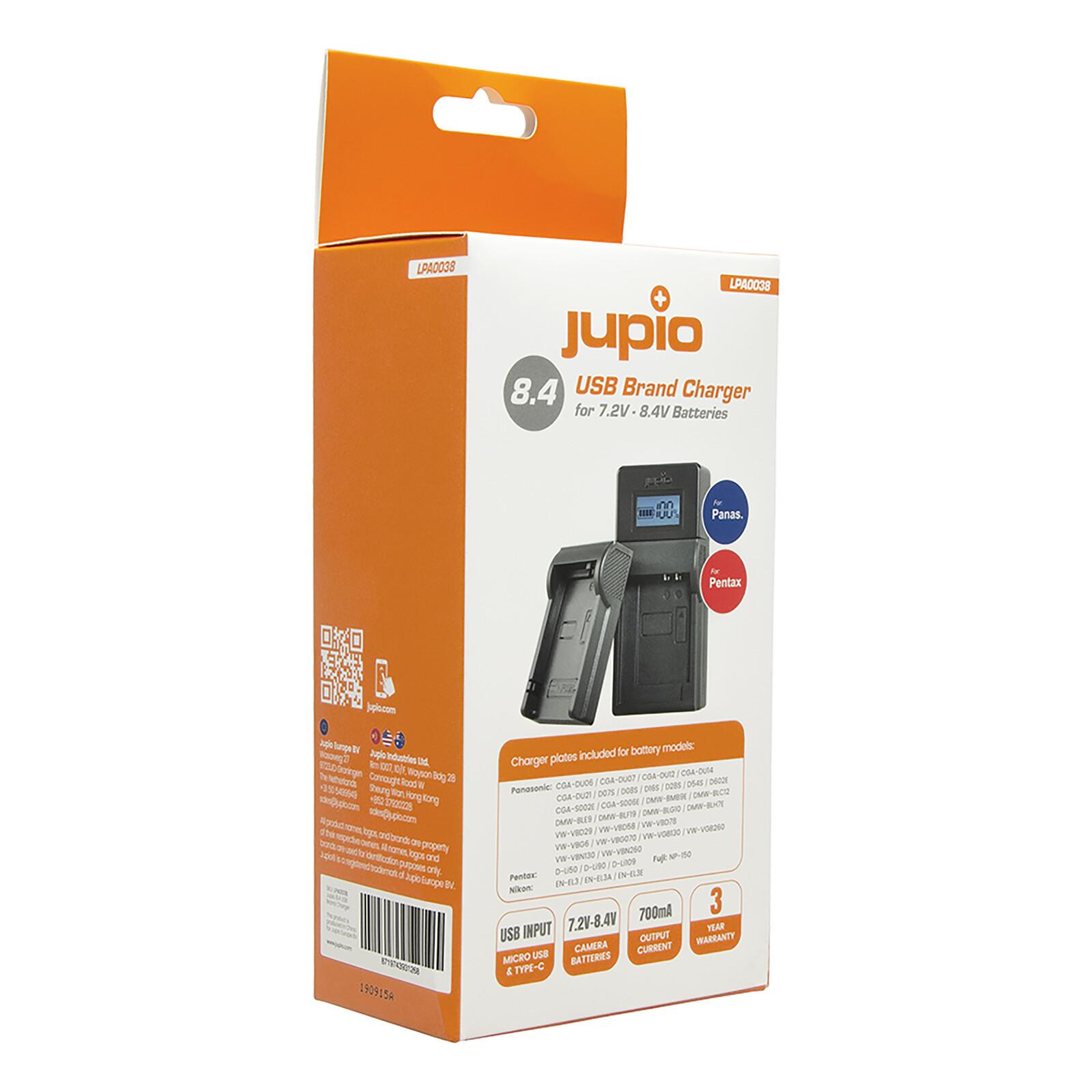Jupio Brand Charger fürPanasonic/Pentax 7.2-8.4V