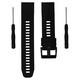 Mika Uhrenarmband Garmin Quick 22mm Silikon schwarz