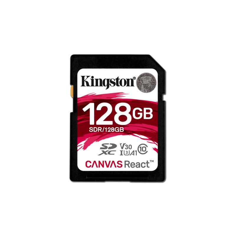 Kingston SDXC 128GB Canvas React 100MBs