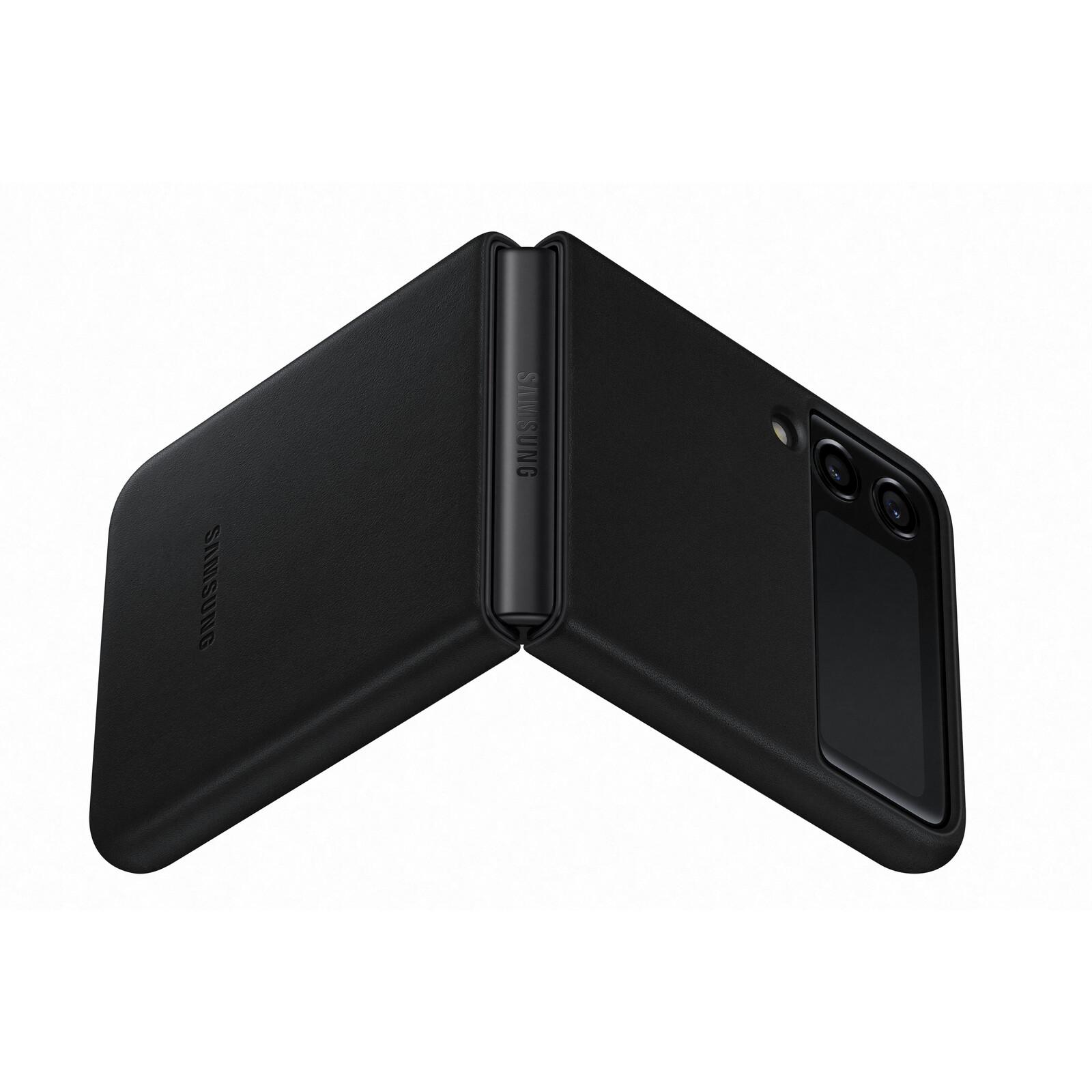 Samsung Leather Cover Galaxy Z Flip3 schwarz
