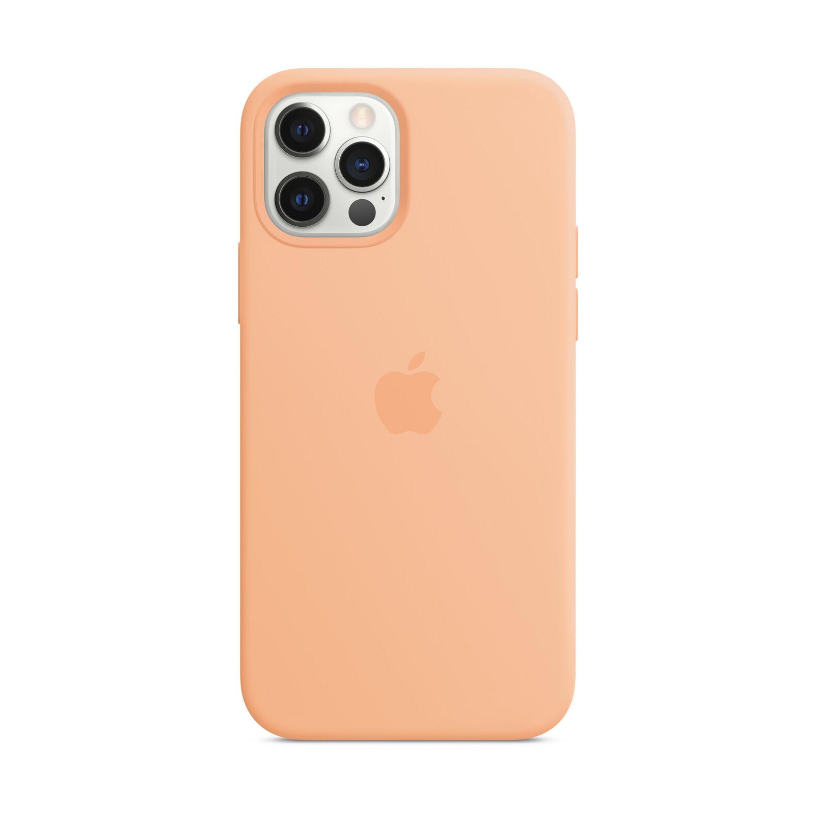 Apple iPhone 12/ 12 Pro Silikon Case mit MagSafe cantaloupe