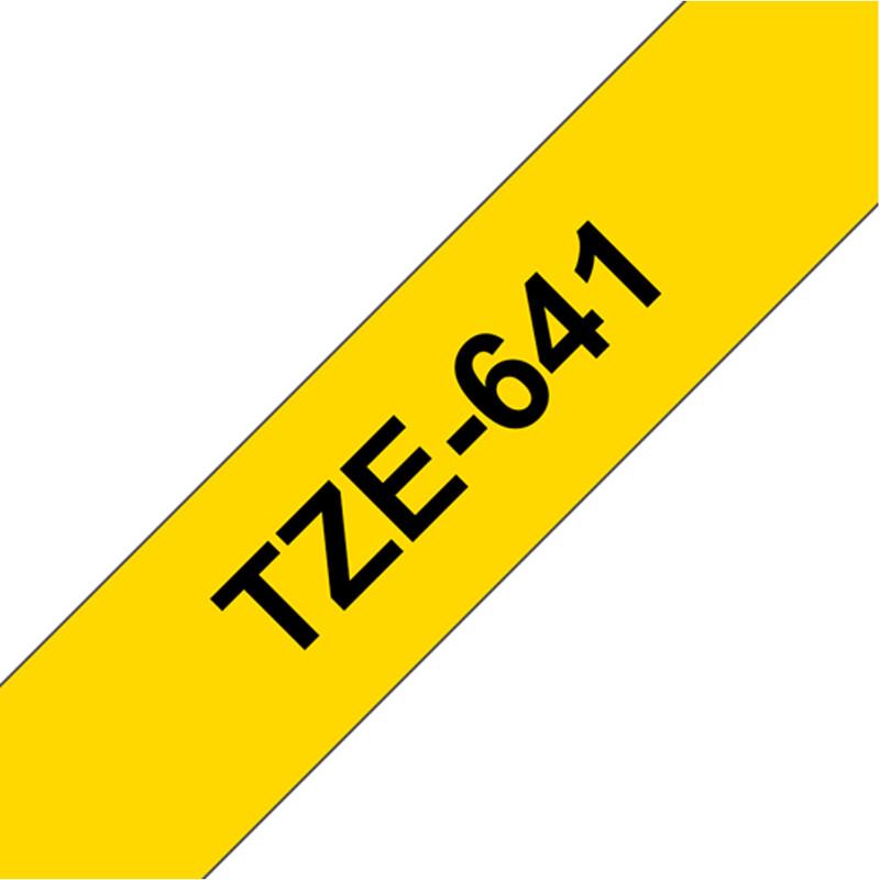 Brother TZE-641 Band gelb/schwarz 18mm